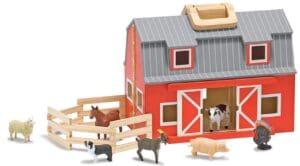 Toddler animal barn set